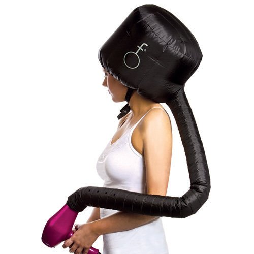 Deluxe Softhood Bonnet Hair Dryer Attachment - Black (Hood Dryer)