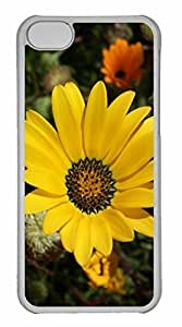 iPhone 5C Case, Personalized Custom Yellow Flower 17 for iPhone 5C PC Clear Case