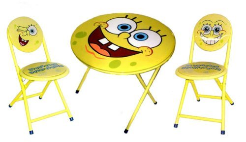 Nickelodeon Spongebob Table and Chair Set Children's Desk, Yellow by Nickelodeon