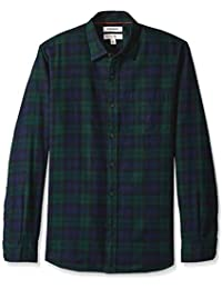 Men's Standard-fit Long-Sleeve Brushed Flannel Shirt