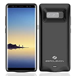 Galaxy Note 8 Battery Charger Case, ZeroLemon SlimPower 5500mAh Extended Charging Case Portable Battery Case for Samsung Galaxy Note 8 - Black
