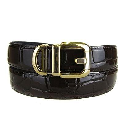 BLTBY-ALG-42 - Chocolate - Boys Alligator Skin Bonded Leather Belt