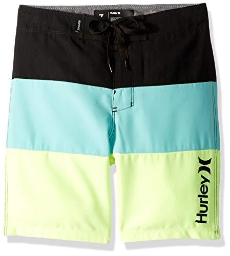 Hurley Black Shorts - Hurley Boys' Big Board Shorts, Tropical Twist/Black, 10
