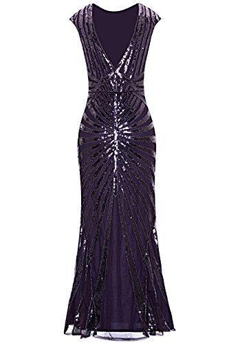 Metme Mujeres 1920s Vintage Prom Flecha Lentejuela Larga Aleta Rugido Gatsby Vestido para Fiesta agraciado Maravilloso Vestido de Bola: Amazon.es: Ropa y ...