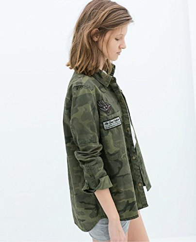 Amazon.com : 2016 Fashion Long Sleeve chaqueta militar ...