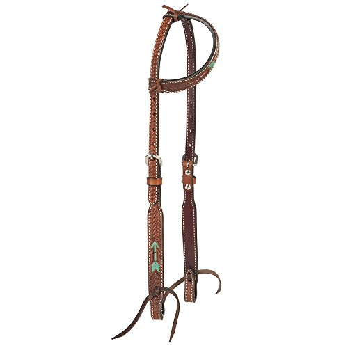 (Rafter T Ranch Company Turquoise Rawhide Arrow Single Ear Headstall)