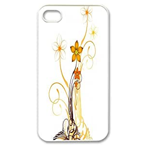 Custom Flower Hard Back Cover Case for iPhone 4 4S CY1143