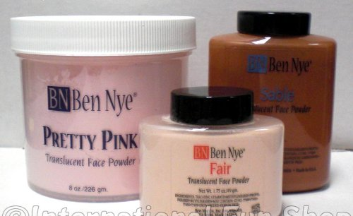 Ben Nye Super White Translucent Face Powder, 3 Oz Shaker ()