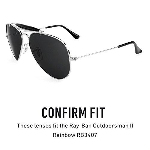Verres de rechange pour Ray Ban Outdoorsman II Rainbow RB3407 — Plusieurs options Polarisés Elite Rouge Reu MirrorShield®