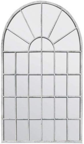 Espejo de Pared para jardín de Arco rústico de Color Blanco (tamaño Grande, 79 x 51 cm): Amazon.es: Hogar