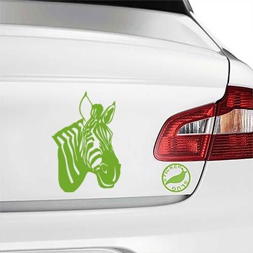 Zebra Decal Sticker (lime, 5 inch) for car truck window glass auto bumper