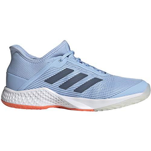 adidas Women's Adizero Club Tennis Shoe, Glow Blue/tech Ink/hi-res Coral, 8.5 M US