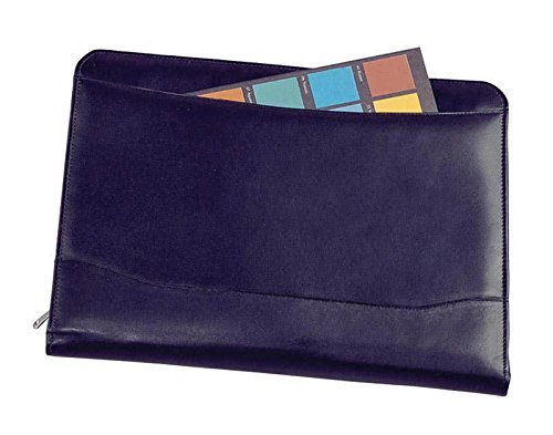 Winn Napa Leather Zippered Writing Pad Black by Winn by Winn