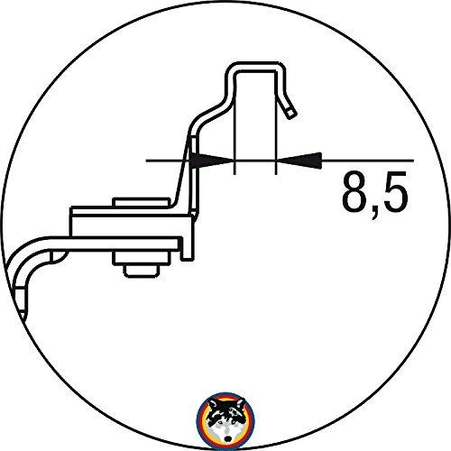 Heizk/örper Universal-Befestigung f/ür Kompakt und Plattenheizk/örper Flamco