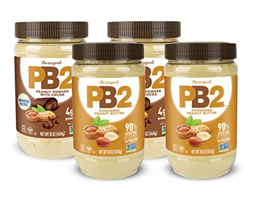 (PB2 Powdered Peanut Butter and Chocolate Peanut Butter 1 Lb (Pack of 4 (2 of Each Flavor)))