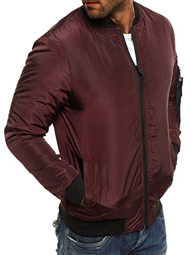 Chaqueta Chaqueta Mix OZONEE j Chaqueta Borgoña de J Invierno con Jacket Chaqueta style de para Capucha Hombres Style Vaquera Cuero 3056 Ak95 xvfxqOwd
