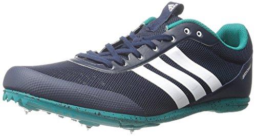 Mens Adidas Performance Distancestar Scarpa Da Corsa Collegiale Navy / Bianco / Verde