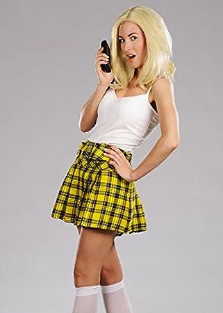 c40edbd78 Yellow Pleated School Girl Skirt UK12 EU38: Amazon.co.uk: Toys & Games