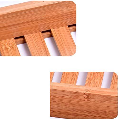 Bathtub Trays HAIZHEN, 100% Natural Bamboo Wooden Bathtub Caddy Bathroom Shower Organizer for Shampoo, Soap, Razors by Bathtub Trays (Image #4)