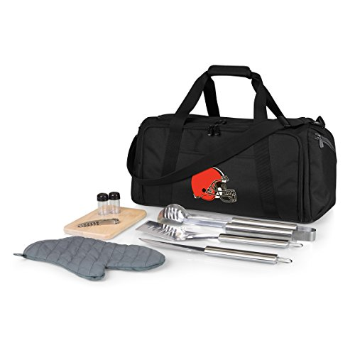(NFL Cleveland Browns BBQ Kit/Cooler Tote with Barbecue and Picnic Accessories)