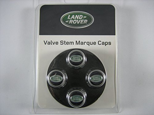 Genuine Land Rover Tire Valve Dust Cover Caps LR027560 with Land Rover Logo