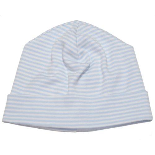 (Kissy Kissy Baby Stripes Striped Hat-White With Blue-Newborn)