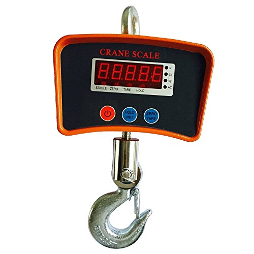 (Hanging Scale, Crane Scale Heavy Duty Industrial Hanging Weight Measure 500 KG 1000LBS (with Battery & Charger))