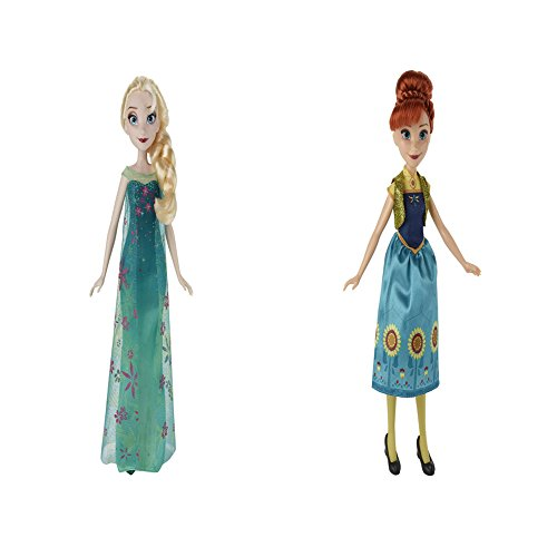 Disney Frozen Fever Elsa and Disney Frozen Fever Anna Doll Toy Gift Bundle. The Perfect Christmas Gift For Girls.