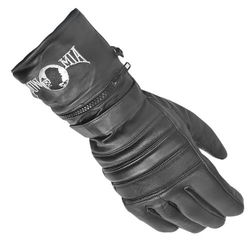 Gloves Motorcycle Insulated (Xelement XG8220 Mens Black Insulated Leather Motorcycle Gauntlet Gloves - 2X-Large)