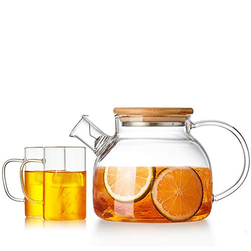 Teiera In Vetro Teiere Brocche Elegante Bicchiere In Vetro Teiera Con Fodera In Vetro Borosilicato Ad Alta Resistenza Termica, 900Ml Prezzi