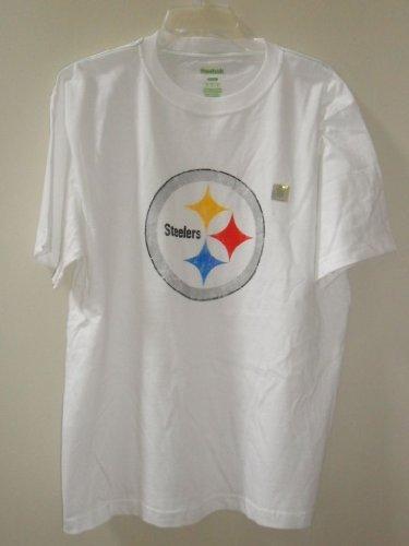 (Reebok Pittsburgh Steelers Adult Short Sleeve Soft Organic Cotton T-shirt (Large))