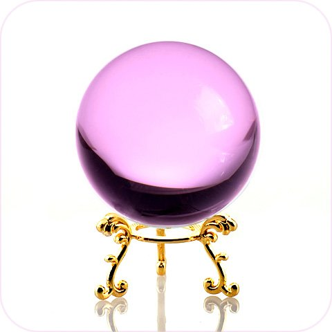crystal ball pink - 3