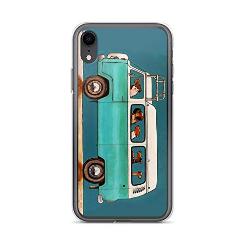 Beamm-Frost Compatible with iPhone XR Case VW Bus Animal Driving Trip Vintage Dog Lover Pure Clear Phone Cases Cover