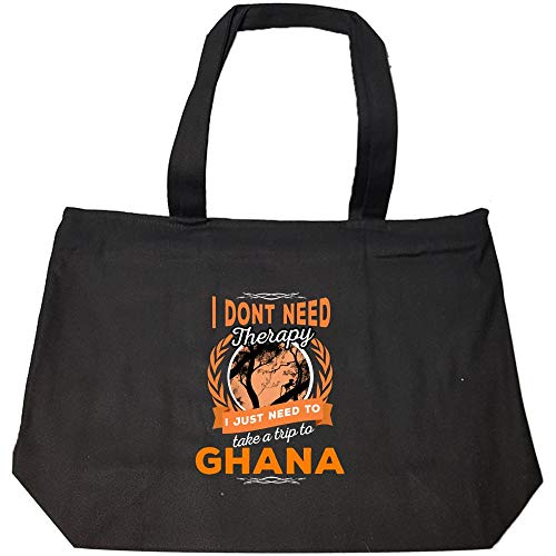 Dont Need Therapy Just Need Ghana Pride Funny - Fashion Zip Tote Bag