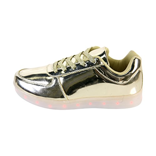 Segnale Per Sempre 60 Womans Lace Up Brevetto Regolabile Sneaker Led Argento