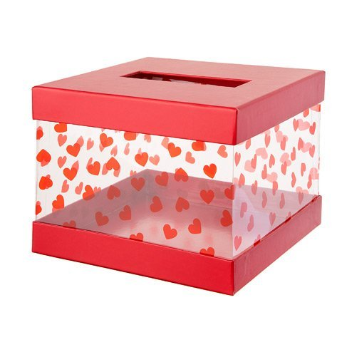 Darice Valentine's Day Mailbox Kit: Red/Clear ()