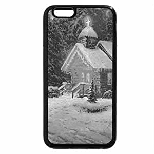 iPhone 6S Case, iPhone 6 Case (Black & White) - Christmas chapel