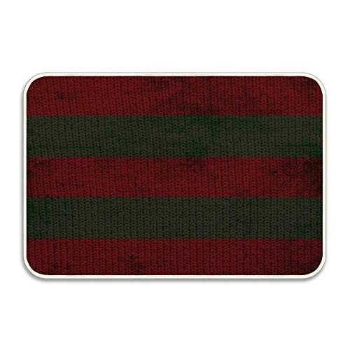 Kuytresdf Freddy Krueger's Sweater Pattern Non-Slip Doormat Floor Entryways Indoor Front Door Mat, Kids Bath Mat, 15.7x23.6 inch