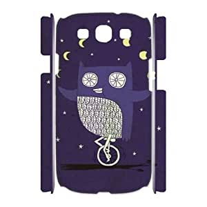 Night owl Custom 3D Case for Samsung Galaxy S3 I9300,personalized Night owl Phone Case