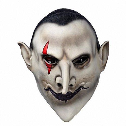Devils Latex Scary Mask Halloween MasqueradeMascara Terror Cosplay Party Props as (De Mascaras De Halloween)