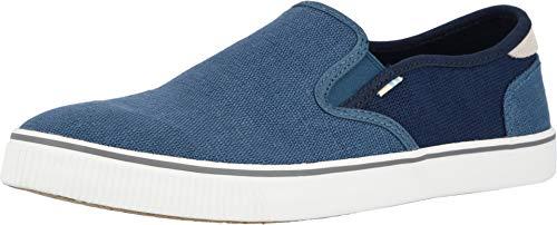 TOMS Men's Baja Slip-On Shoes, Size: 7.5 D(M) US, Color: Af Blu/NVY Hrtg -