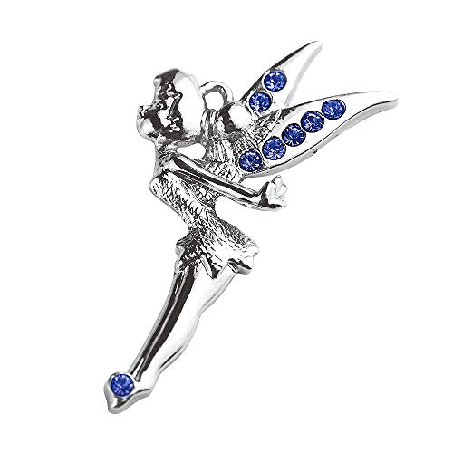 New Hot DIY Whoelsale Cute Blue Crystal Angel Fairy 10pcs Charms Pendants - Charm Fairy Tinkerbell
