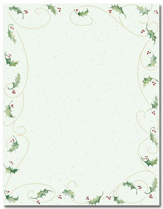 (Holly Bunch Holiday Stationery - 80 Sheets by Masterpiece Studios)