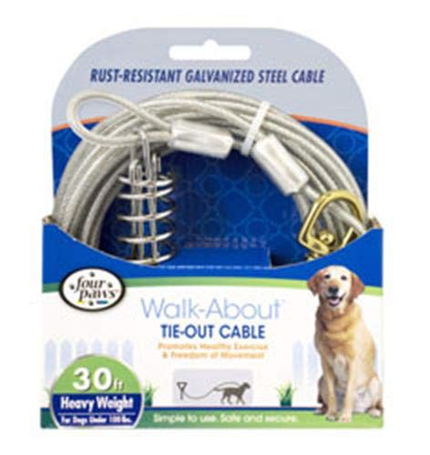 Four Paws Tie-Out Cable for Large Dogs, 30 ft ()