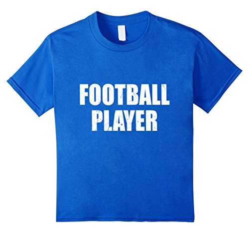 Kids Football Player Halloween Costume Party Cute & Funny T shirt 6 Royal Blue - Girl Football Player Halloween Costumes