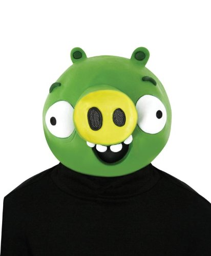 Paper Magic Angry Birds Mask, Green, One Size -