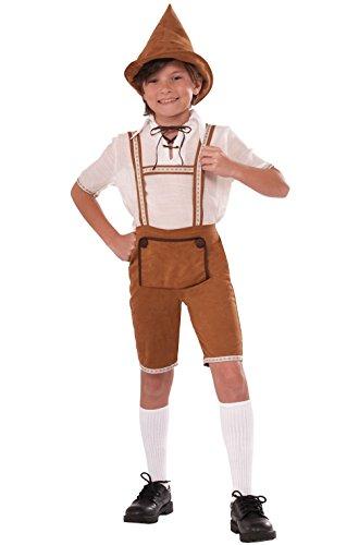 [Mememall Fashion Storybook Hansel German Lederhosen Boys Child Costume (Small)] (German Officer Hat Costume)