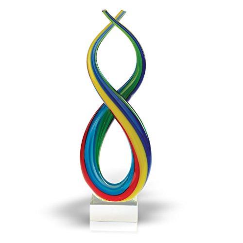 Badash Art Glass Centerpiece Spectrum 14