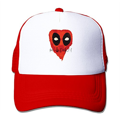 ACMIRAN Dead 2 Pool Soft Hiphop Cap One Size Red (Dame Edna Costumes)