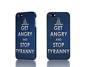 Apple iPhone 4 / 4S Case - The Best 3D Full Wrap iPhone Case - text typography keep calm and blue background